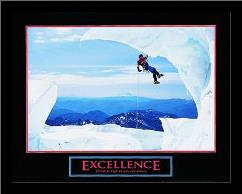 Excellence-Snow Climber art print poster with simple frame