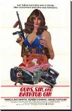 Guns, Sin and Bathtub Gin art print poster with block mounting