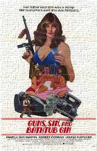 Guns, Sin and Bathtub Gin art print poster transferred to canvas