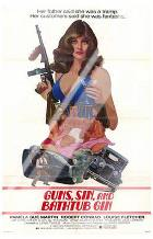 Guns, Sin and Bathtub Gin art print poster with laminate