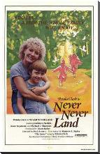 Never Never Land art print poster with block mounting