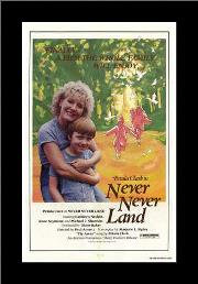 Never Never Land art print poster with simple frame