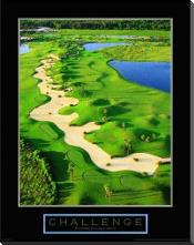 Challenge-Golf II art print poster with block mounting