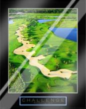 Challenge-Golf II art print poster with laminate