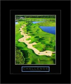 Challenge-Golf II art print poster with simple frame