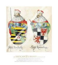 Two Kings With Sword And Javelin art print poster with laminate