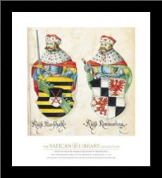 Two Kings With Sword And Javelin art print poster with simple frame