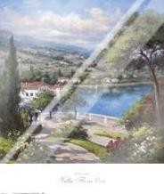 Villa Flora I art print poster with laminate