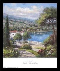 Villa Flora I art print poster with simple frame
