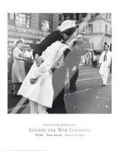 Kissing the War Goodbye, Vj Day, Times S art print poster with laminate