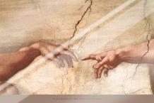 Creation of Adam (Detail) art print poster with laminate