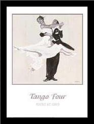 Tango Four art print poster with simple frame
