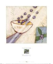 Blueberry art print poster with laminate