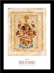 Crest of Valor I art print poster with simple frame