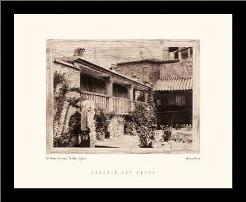 Greco House, Toledo, Spain art print poster with simple frame