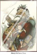 Merry Santa art print poster with laminate