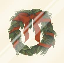 Small Holiday Wreath (H) art print poster with laminate