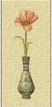 Tulip in Vase II art print poster transferred to canvas