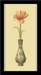Tulip in Vase II art print poster with simple frame