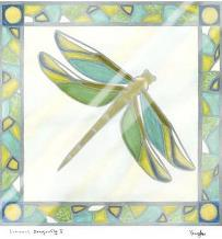 Luminous Dragonfly I art print poster with laminate