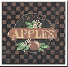 Fresh Apples art print poster with block mounting