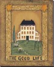Good Life art print poster with block mounting