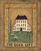 Good Life art print poster transferred to canvas