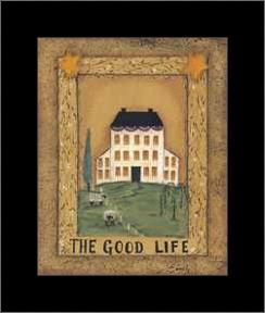Good Life art print poster with simple frame