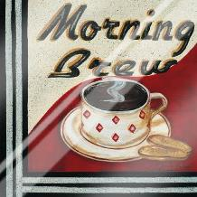 Morning Brew art print poster with laminate