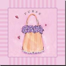 Purse art print poster with block mounting