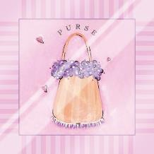 Purse art print poster with laminate