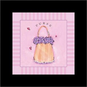Purse art print poster with simple frame