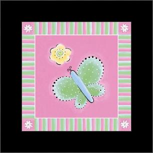 Butterfly III art print poster with simple frame