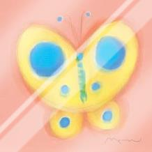 Butterfly On Pink art print poster with laminate