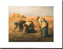 Gleaners art print poster with block mounting
