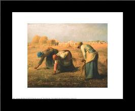 Gleaners art print poster with simple frame