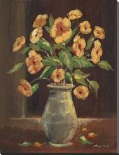 Flowers in a Vase I art print poster with block mounting