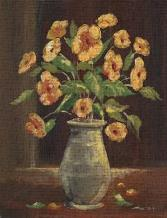 Flowers in a Vase I art print poster transferred to canvas