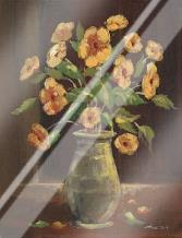Flowers in a Vase I art print poster with laminate