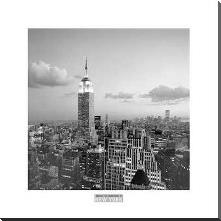 Empire State Building art print poster with block mounting