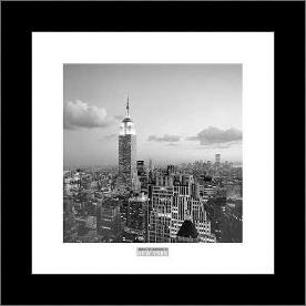Empire State Building art print poster with simple frame