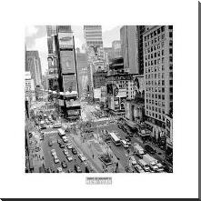 Times Square Afternoon art print poster with block mounting