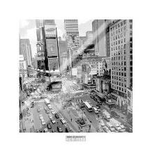 Times Square Afternoon art print poster with laminate