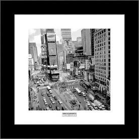 Times Square Afternoon art print poster with simple frame