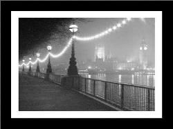 River Thames By Night art print poster with simple frame