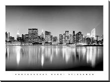 Manhattan East Side art print poster with block mounting