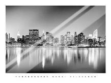 Manhattan East Side art print poster with laminate
