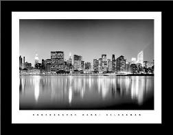 Manhattan East Side art print poster with simple frame