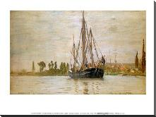Chasse-Maree at Anchor art print poster with block mounting