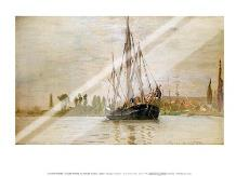 Chasse-Maree at Anchor art print poster with laminate